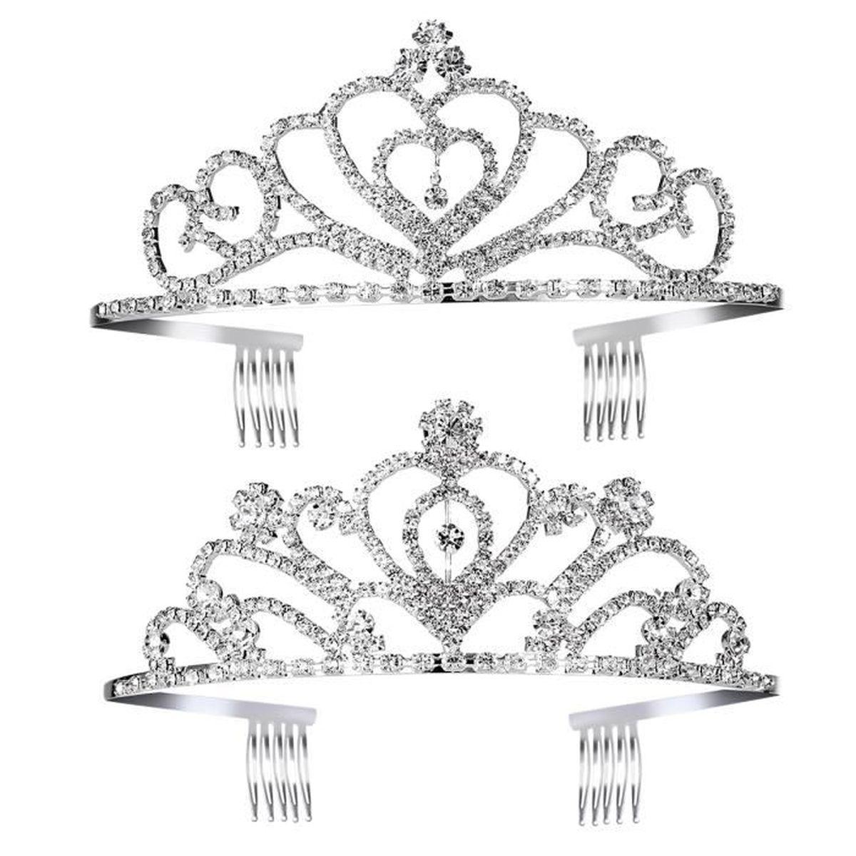 Reine diadèmes Frozen tiara diadèmes mariage pinces flocons de neige