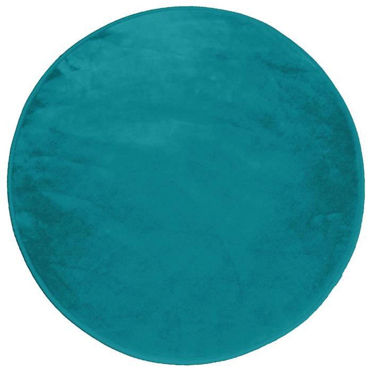 tapis rond 0 90 cm velours uni louna bleu lagon achat. Black Bedroom Furniture Sets. Home Design Ideas