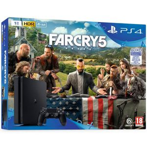CONSOLE PS4 Console PS4 Slim 1To Noire/Jet Black + Far Cry 5 -
