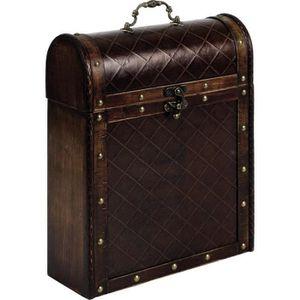 COFFRET SOMMELIER Coffret valise 3 bouteilles en bois