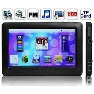 LECTEUR MP4 BLUE@Lecteur MP3/MP4/MP5 Ecran Tactile Full HD 8 G