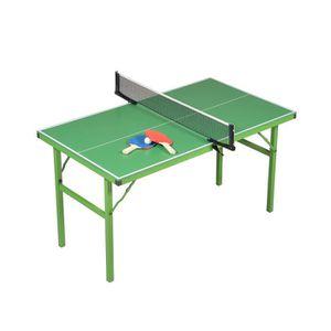 TABLE TENNIS DE TABLE Table de Ping Pong - Verte avec pieds verts pliabl