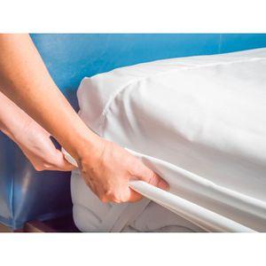 PROTÈGE MATELAS  Protège matelas flanelle 90 x 190 cm / 100% Coton