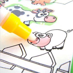 LIVRE DE COLORIAGE Livre de coloriage enfants animaux peinture magiqu