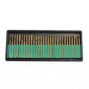 FORET - MECHE 30PCS Foret Diamant Bavure Rotatif Outil 2.3mm Pr