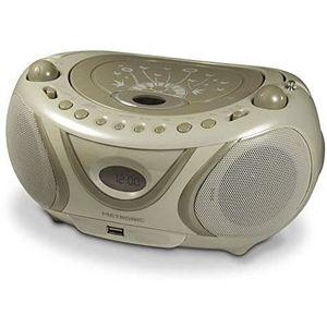 RADIO CD CASSETTE 477114 Radio - Lecteur CD - MP3 Portable Soft Grey