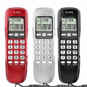 Téléphone fixe Téléphone de bureau Noir, Bureau à domicile Téléph