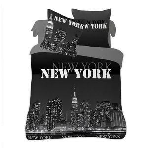 housse de couette new york 2 taie achat vente housse de couette new york 2 taie pas cher. Black Bedroom Furniture Sets. Home Design Ideas