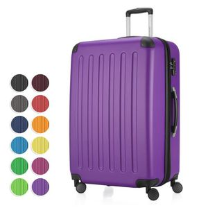 VALISE - BAGAGE ✓ 10 couleurs ✓ coquille dure ✓ mat ✓ 4 rôles Blan