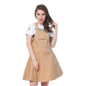SALOPETTE Women's Buynewtrend Cotton Lycra Dungaree Skirt Fo