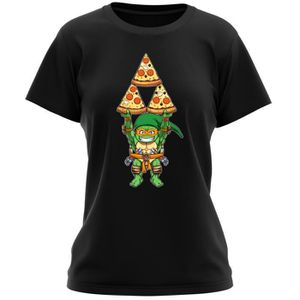 T-SHIRT T-shirt Femme Noir Tortues Ninja - Zelda parodique