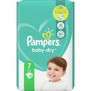 COUCHE Pampers Baby-Dry Taille7, 18Couches
