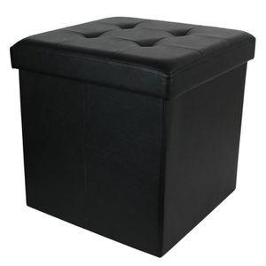 COFFRE - MALLE Coffre banc pliable en polyuréthane coloris noir -