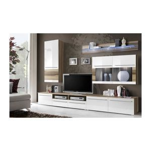 ENSEMBLE MEUBLES DE SALON Meuble TV design LOUMA + LED pour votre salon. Bla