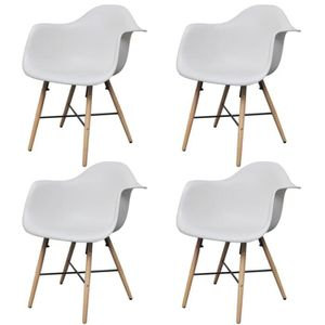 Chaise blanche accoudoir achat vente chaise blanche for Chaise blanche accoudoir