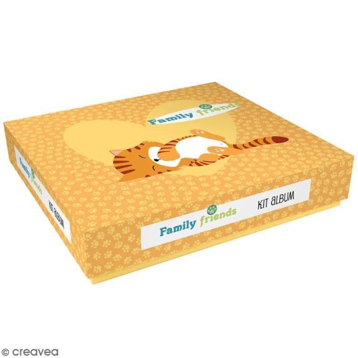 Kit album Scrapbooking - Family friends - Chats Ce kit album scrap Chats Artemio contient-nbsp: 1 boîte cartonnée qui contient