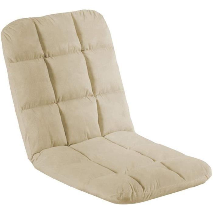 Chaise de sol Chaise Pliable Chaise de méditatio Salon Canapé-lit Pliant Réglable Sol Lounger Sleeper Matelas Futon Chai 136527