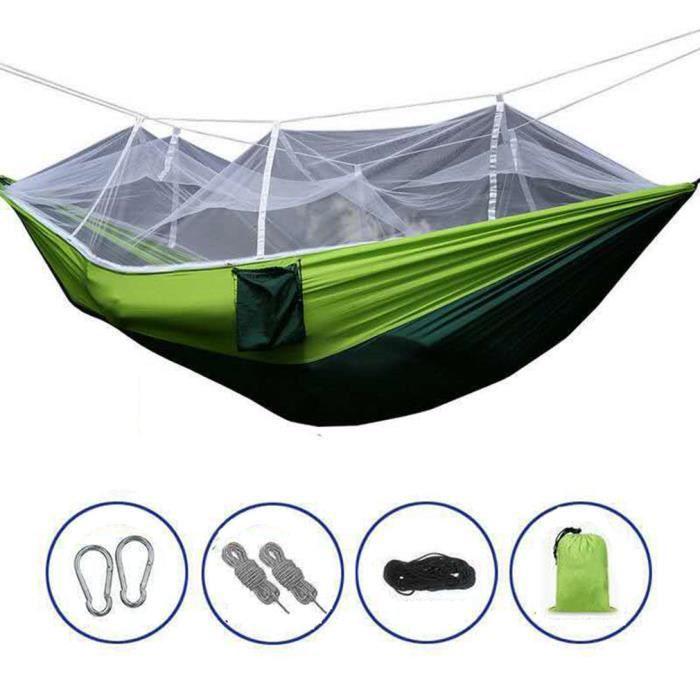 HAMAC-210T nylon parachute tissu moustiquaire hamac extérieur anti-moustique-armée vert