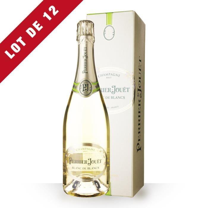 12X Perrier-Jouët Blanc de Blancs 75cl - Etui - Champagne