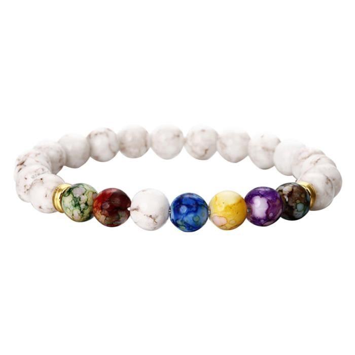 1 PC pierre naturelle exquise élégant coloré Agate unisexe Bracelet perles pour femmes cadeaux de BRACELET - GOURMETTE - JONC