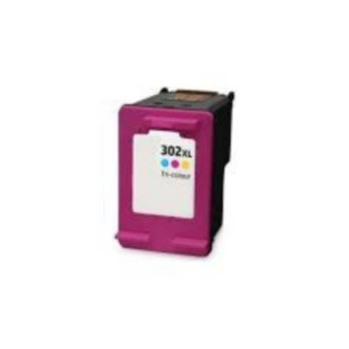 Cartouche pour HP 302XLCL - F6U67AE Couleur Compatible Envy 4520