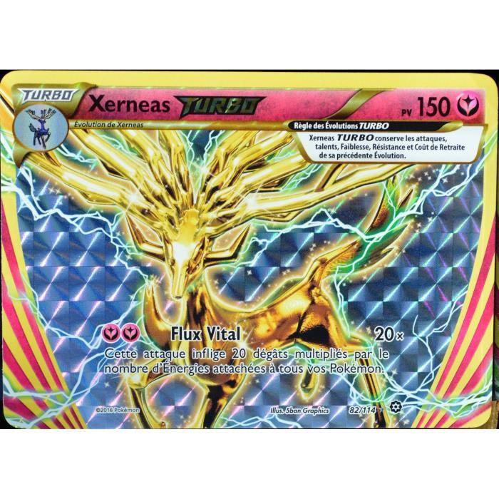 carte Pokémon 82-114 Xerneas Turbo 150 PV - TURBO XY - Offensive Vapeur NEUF FR