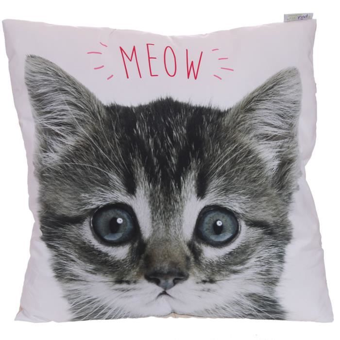 Coussin chaton (MEOW) - 50 x 50cmCOUSSIN