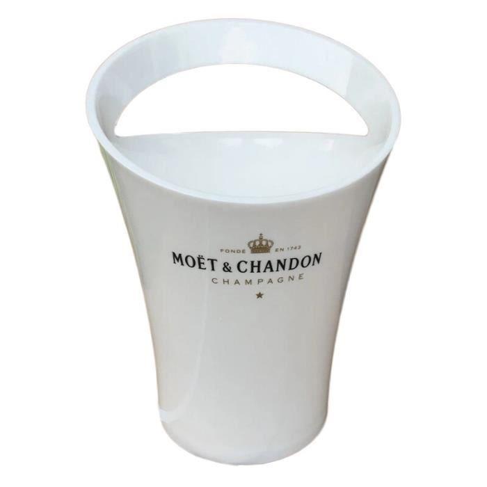 2 pièces Coupes de Champagne Cocktail verre seau à glace Chandon vin bière Partyfor 3L acrylique blanc seaux à glace ref*DE1463