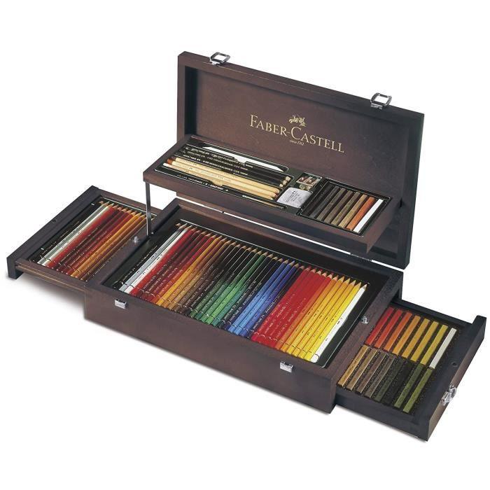 Fournitures de dessin industriel Faber-Castell 110086 Coffret bois collection Beaux-Arts 24146