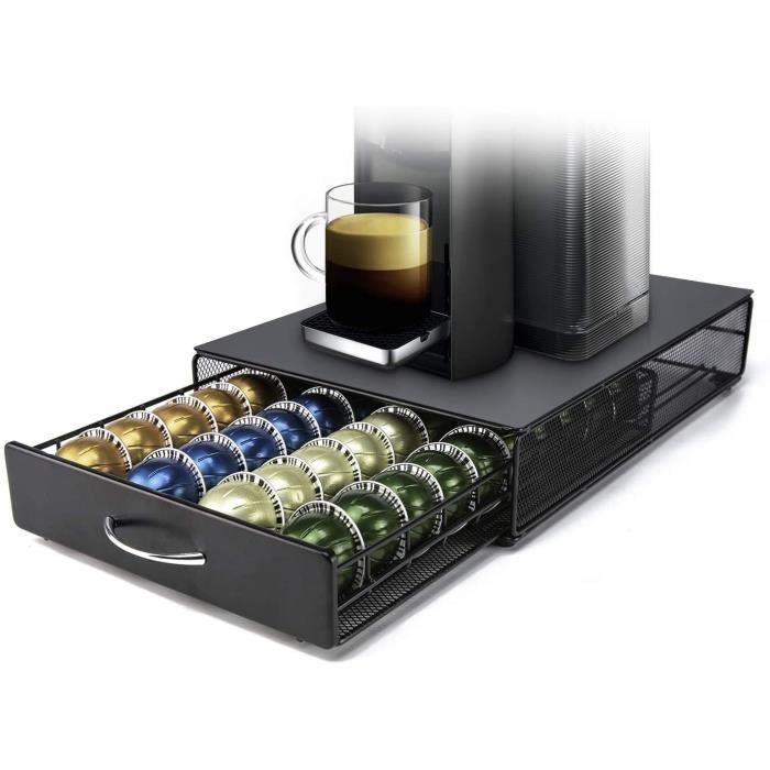 MACHINE A CAFE ets Nespresso Vertuoline Porte Dosette de Cafeacute Support de Capsule Rangement Tiroir pour 40 Coffee533