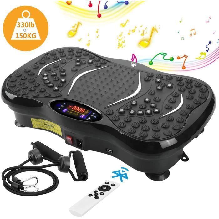 Plateforme Vibrante VP200-99 Niveaux-5 programmes -LCD -Haut-parleurs Bluetooth,Pour Fitness Appareil d'Entraînement