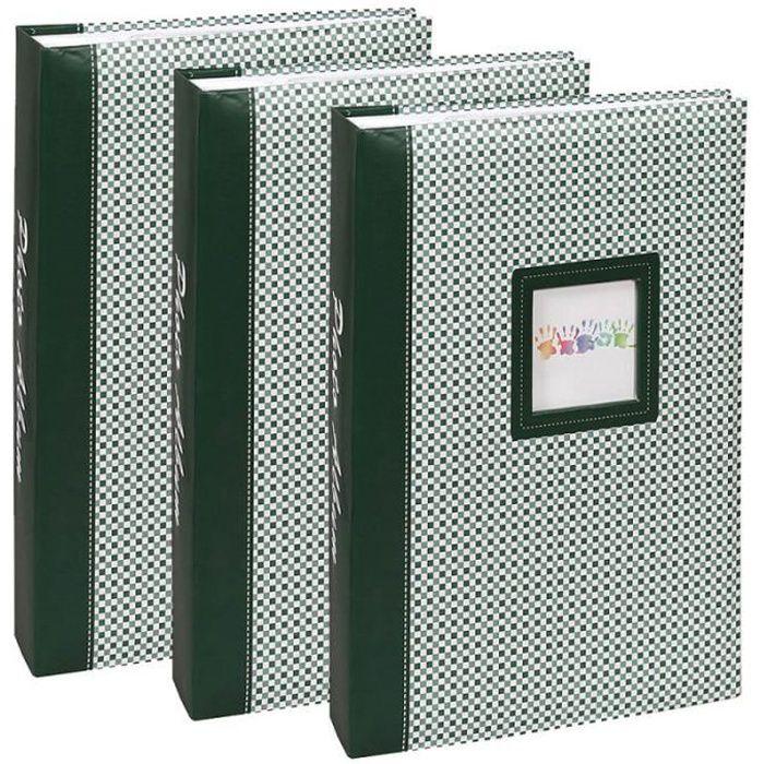 lot 3 albums photo elements 300 pochettes 10x15 - Vert 10x15 cm
