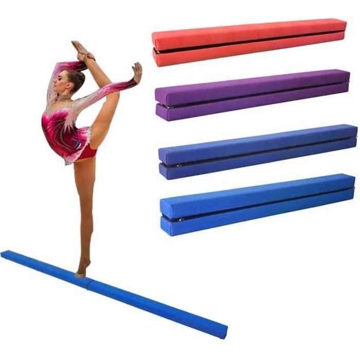 Dripex 210cm Poutre d'équilibre de Gymnastique Pliante Enfants Formation Poutre pour l'exercice de Gym à Domicile-Bleu