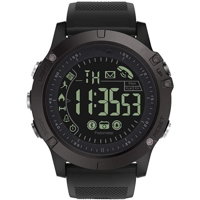 Montre Connectée Homme Smartwatch Sport Militaire Bluetooth Montre Intelligente Multifonction Etanche Digital Quartz Montre Fitness