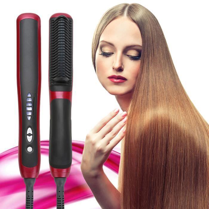 Brosse à lisser Fer à Lisser Lisseur cheveux