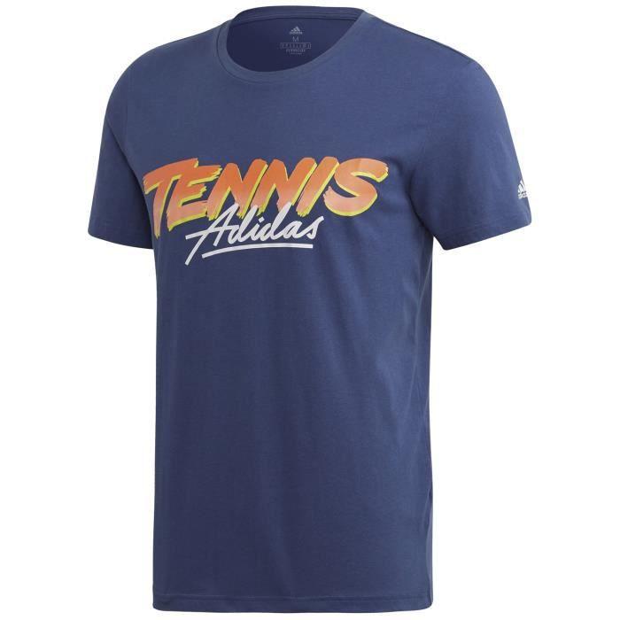 T Shirt Adidas Graphic Tennis Script Australian Open 2020