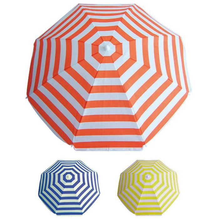 Parasol de plage polyester 180 cm. à rayure