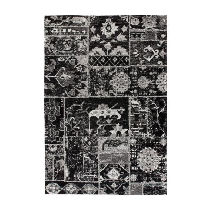 Tapis Imprimé Vintage -river- Gris & Noir - Paris Prix 200 x 280 cm
