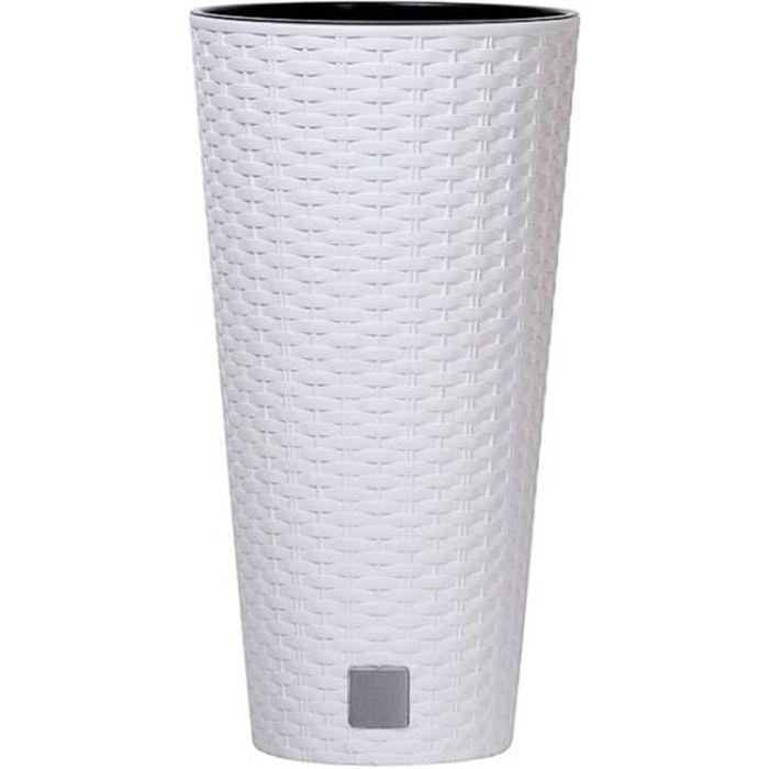 Prosperplast Rato Tubus Pot de fleurs avec insert de 4L blanc