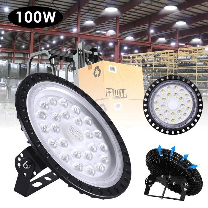 ECLAIRAGE ATELIER JCPGW UFO LED High High Bay Light 100W 10000KM 6500K &Eacuteclairage de l'entrep&ocirct Ultra Mince de LED