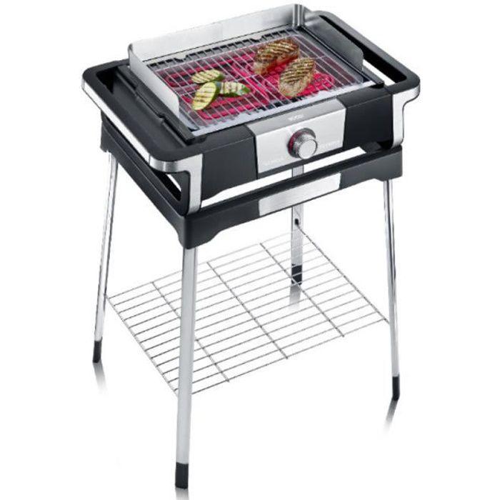 Severin - Barbecue Électrique Sur Pieds 3000W Noir-Inox - Pg8117