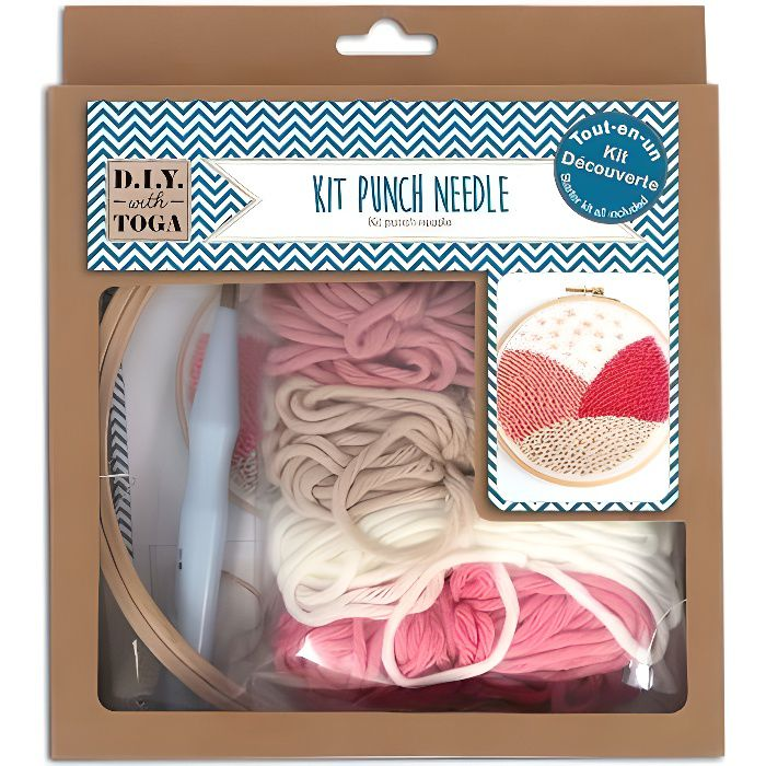 Kit de broderie en relief Punch needle