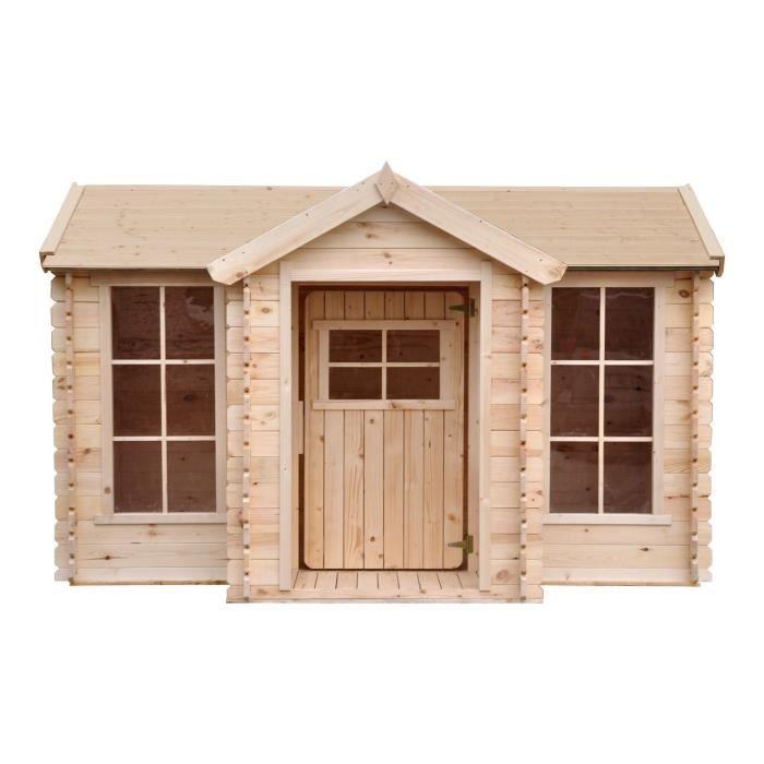 Photo de timbela-m520-maisonnette-en-bois-avec-terrasse-maison-enfant-exterieur-avec
