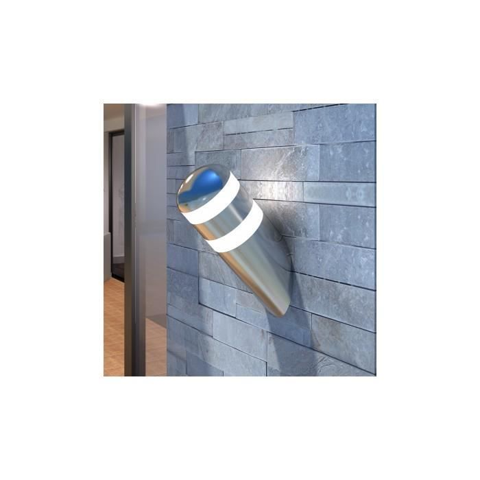 Applique murale led en acier inoxydable ampoule incluse for Applique murale 5 ampoules