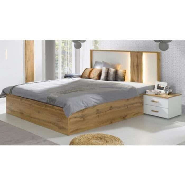 price factory lit coffre adulte design wood avec deux. Black Bedroom Furniture Sets. Home Design Ideas
