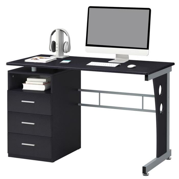 bureau informatique jussieu noir achat vente bureau. Black Bedroom Furniture Sets. Home Design Ideas