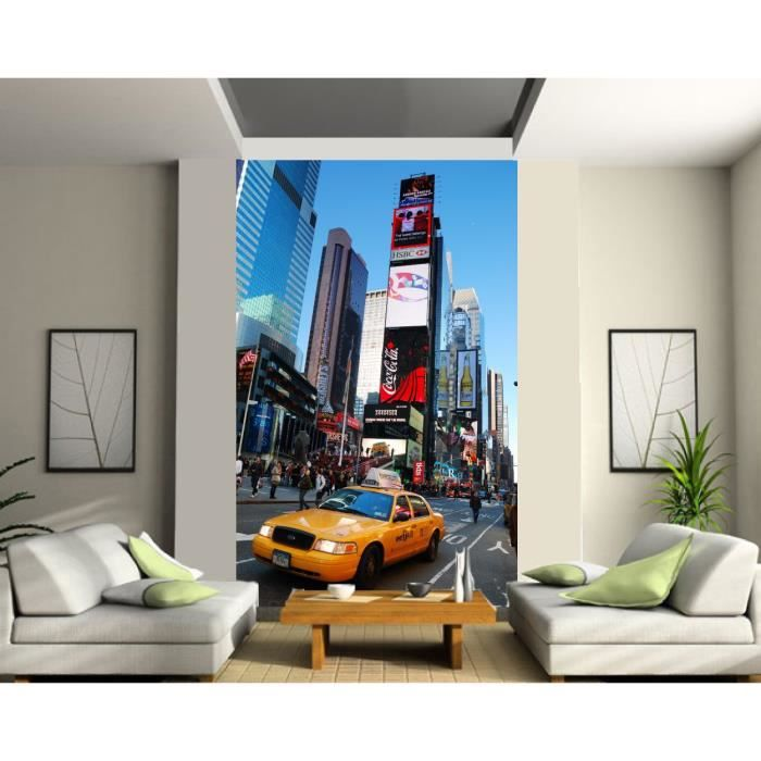 Sticker trompe l oeil g ant taxi new york dimensions achat vente stickers - Sticker geant new york ...