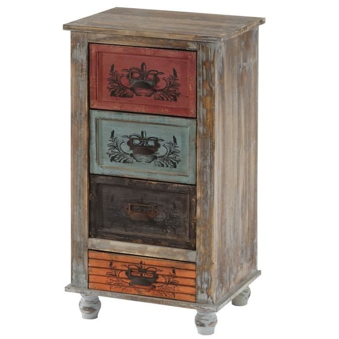 commode vigo armoire table d 39 appoint vintage shabby chic. Black Bedroom Furniture Sets. Home Design Ideas