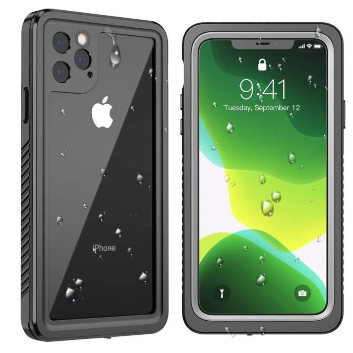 Coque iPhone 11 Pro, Étanche IP68 Antichoc intégré