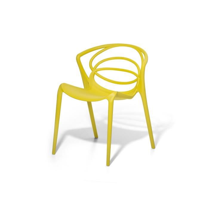 chaise de jardin design si ge en plastique jaune bend achat vente fauteuil jardin chaise. Black Bedroom Furniture Sets. Home Design Ideas